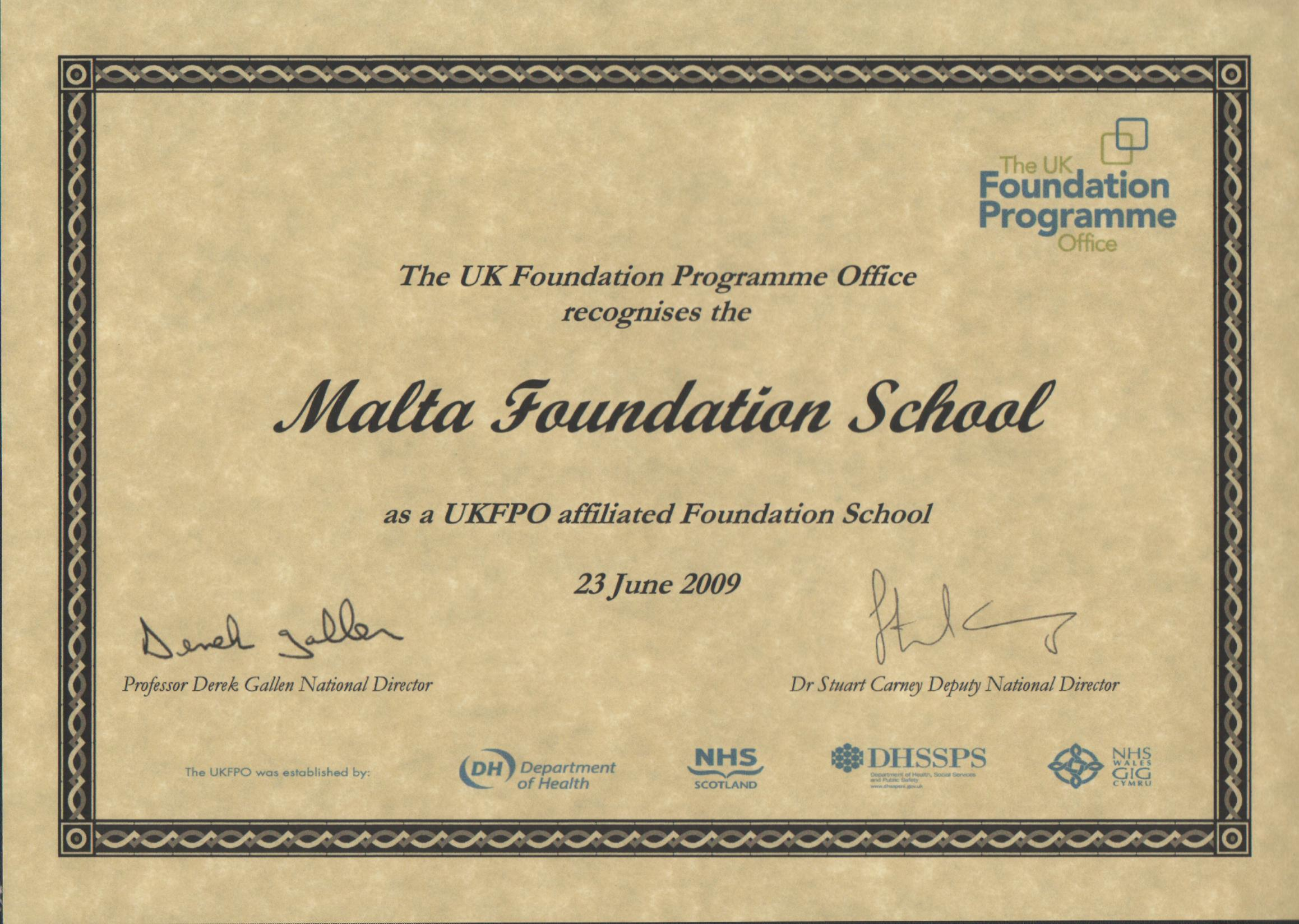 Foundation programme malta malta foundation programme successfully to compete on the same level as those who are successful in the uk foundation programme for specialty posts in 1betcityfo Image collections
